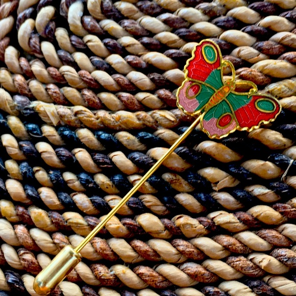 Butterfly vintage stick pin